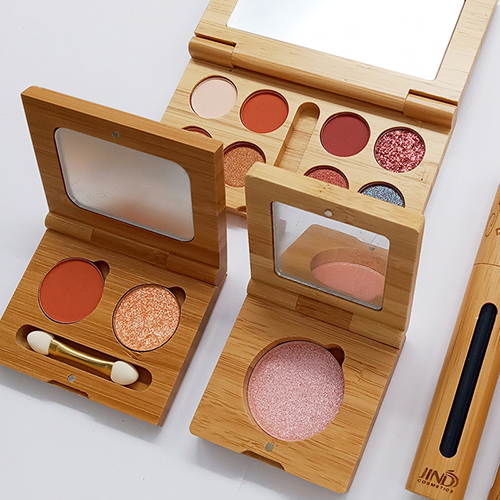 Single color eyeshadow/ blush / contour bamboo  Natural makeup